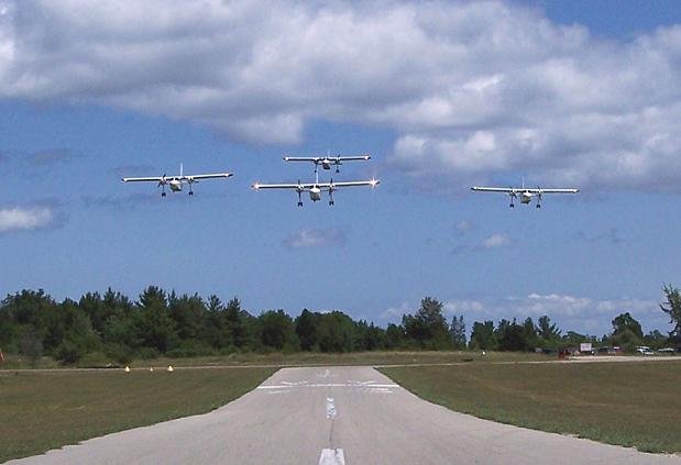 Fleet in flight